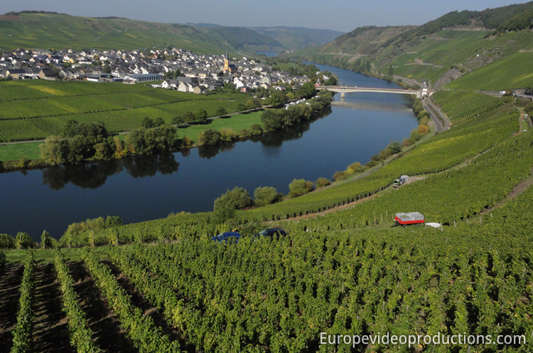 Trittenheim in Mosel in Germany