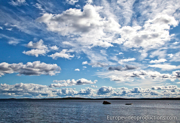 A typical lake landscape Finland