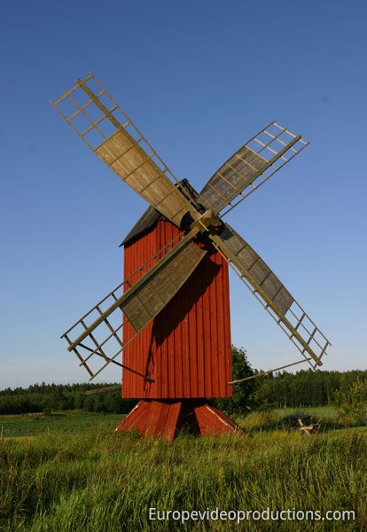 A windmill in the autonomous Åland Islands in Finland